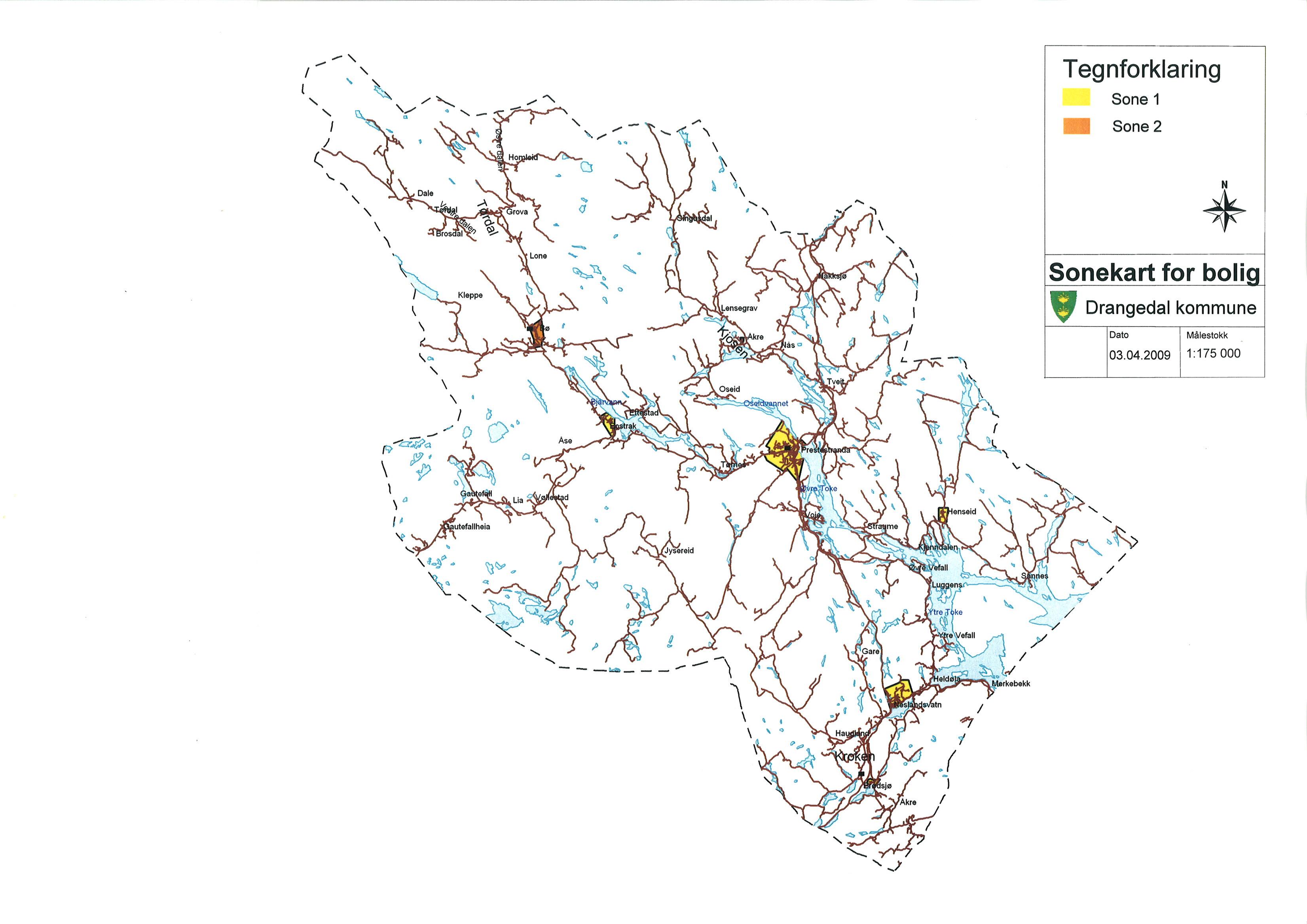 kart drangedal Drangedal kommune
